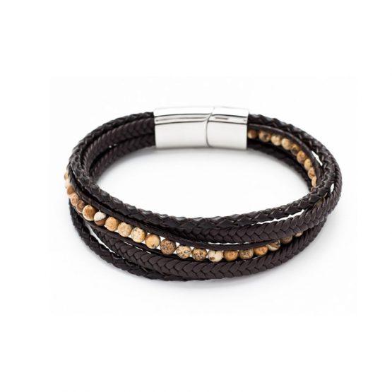 bracelet-acier-cuir-