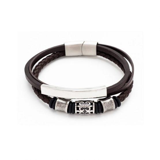 bracelet-cuir-marron